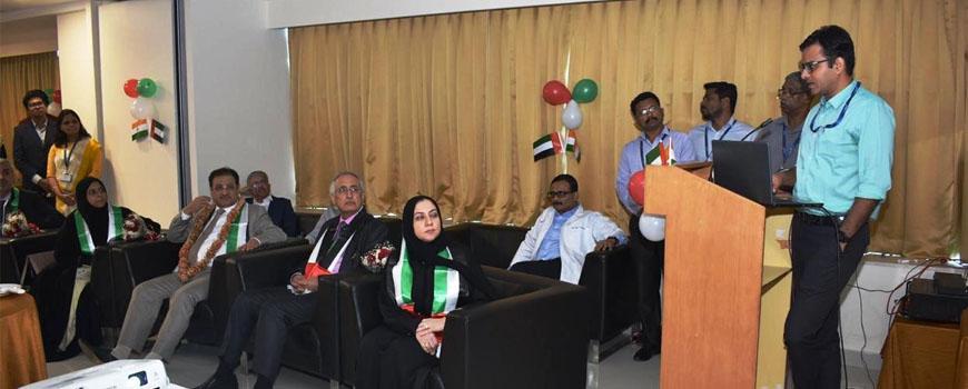 Dr. Abhishek Yadav with Dubai Health Care Authority