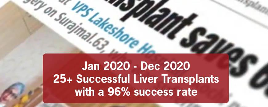 25+ Successful liver transplants at VPS Lakeshore Hospital Kochi 2020